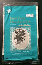 Alice Godkin Petit Point Needlepoint Kit 1146 Vtg Floral 116 x 60 Stitch Sealed