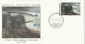 MARSHALL ISLANDS 6 JUNE 1994 D DAY ALLIED LANDINGS AT NORMANDY FIRST DAY COVER