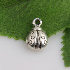 30pcs Tibetan Silver Ladybug Pendants Charms For Jewelry Making 13x9mm