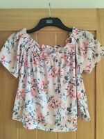 MISS SELFRIDGE Womens Clothing Size 16 Pink Floral Fashion Top Never Worn MNT