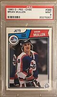1983 1984 OPC Brian Mullen PSA 9 RC ROOKIE Mint #389 Winnipeg Jets