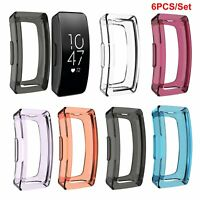 6PCS TPU Schutzhülle Case Cover Für Fitbit Inspire/Inspire HR Fitness Tracker
