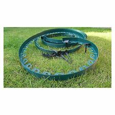 Flexible Plastic Garden Grass Lawn Edging Border 10 m + 30 Securing Pegs Green