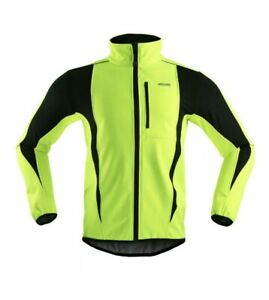 ARSUXEO Soft shell Cycling Jacket fluorescent Yellow/black Size XL BNWT