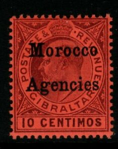 MOROCCO AGENCIES SG18 1903 10c DULL PURPLE/RED MTD MINT