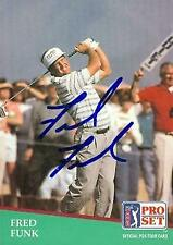 Fred Funk autographed trading card (Golf) 1991 Pro Set #54