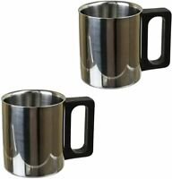 Premium 6 oz Stainless Steel Coffee Mug for Home Camping Travel Outdoors 2 Pack