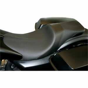 Danny Gray Weekday Smooth 2-Up Seat 1997-07 Harley Touring Yaffe Stretched Tank