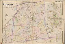 1910 MORRIS COUNTY MENDHAM TOWNSHIP, NEW JERSEY, RALSTON STATION, COPY ATLAS MAP