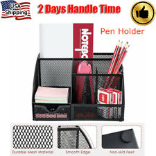 Pencil Amp Pen Holder Office Desk Supplies Organizer Desktop Metal Storage Mesh Us