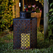 Ottoman LED Candle Lantern Hurricane Pillar Candle Outdoor Decor Moroccan Modern