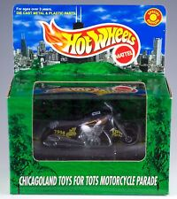 Hot Wheels Promo Chicagoland Toys For Tots Motorcycle Parade Black MIB 1998