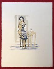Inge Pries, Rendez-vous, Farblithographie, 2008, handsigniert und datiert