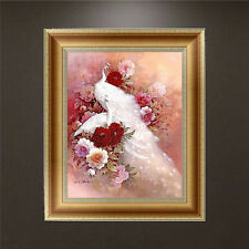 5D DIY Diamond Painting Flower Peacock Embroidery Cross Crafts Stitch Home Decor