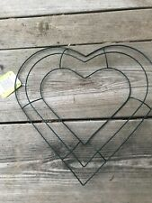 """Heart Shaped Wreath Frame Forms 12"""" Metal Wire Wedding Memorial Valentine's 1"""