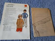 Vintage 1970s Silver Needles sewing pattern No: 41 Child's anorak uncut