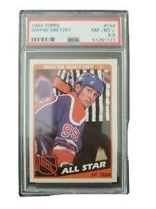 1984-85 Topps Wayne Gretzky All-star Oilers PSA 8.5