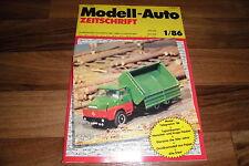 MODELL-AUTO 1/1986 -- DRÖGMÖLLER E 420 CORSAIR / Herpa: ENTEN / Diorama: 50er J.