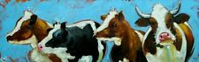 "Cows #515 - 12x36"" original oil painting by Roz"