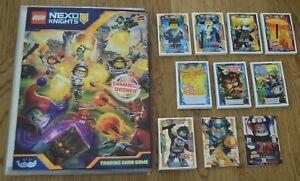 Lego® Nexo Knights™ Trading Card Game Sammelmappe + alle 180 Karten komplett Set