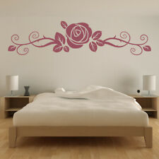 Rose Flower Floral Headboard Wall Sticker WS-17065