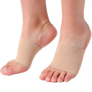 Doc Miller Arch Support Compression Sleeves 1 Pair Plantar Fasciitis SKIN/NUDE