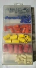 107 PIECES WIRE CONNECTOR, TWIST ON ELECTRICAL NUT SPRING CAP ASSORTMENT KIT
