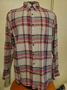 Club Room Red/Blue Plaid Button Front Shirt - Size LT