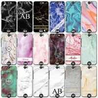 Personalized Marble Phone Case/Cover for HTC One Smartphone Initials/Name/Custom