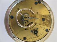 Rarer Waltham Martyn Square pocket watch 1876