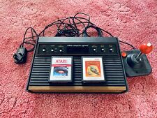Atari 2600 Woody Console With Wico Command Control Joystick And 2 Games