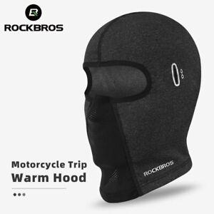 ROCKBROS Cycling Cap Fleece Thermal MTB Bike Hiking Skiing Men's Winter Hat Hood