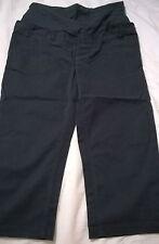BNWT Jojo Maman Bebe cropped trousers black size 8 maternity 98% cotton