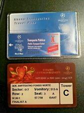 BIGLIETTO TICKET UEFA CHAMPIONS LEAGUE FINAL 2010  INTER VS BAYERN M. + GADGET