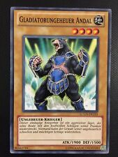YUGIOH!! Gladiatorungeheuer Andal LCGX-DE223! Common! Near Mint!