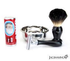 Men's Double Edge Shaving Kit Safety Razor & Brush Beginner Set ARKO Soap & Bowl