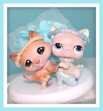❤OOAK Littlest Pet Shop LPS CINDERELLA Husky Dog Cat Custom Lot SET Repaint❤