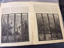 Antique Book Print - Screen-Painting in Oil Colours - 1888
