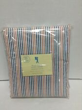 Pottery Barn Kids Multi Stripe Bed Bedroom Duvet Cover Full Queen FQ NAVY Orange