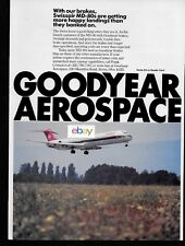 SWISSAIR MD-80 JETS GETTING HAPPY LANDINGS WITH GOODYEAR BRAKES AD