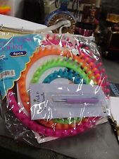 DIY Neon Easy Knitting Round Loom Kit 4 Piece Set with Yarn Needle and Pick New