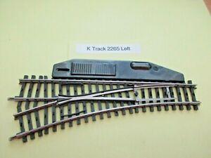 Marklin HO - K Track -  Left Manual Turnout #2261