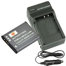 DSTE LI-50B DB-100 Battery + Charger for OLYMPUS SP-800UZ u Tough TG-870 D-Li92