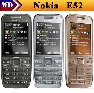 Original Mobile Nokia E52 Unlocked 3G Cell Phone Camera 3.2mp Bluetooth Wifi Gps