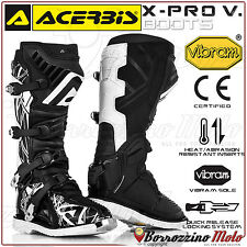 Acerbis x-pro v. bottes noir/blanc vibram off-road moto cross quad enduro sz. 41