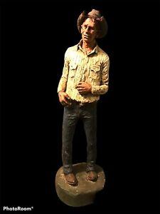 """RARE Michael Garman Plainsman- Handpainted Cowboy Sculpture 1971 Figure 13"""""""