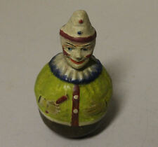 Antique Paper Mache Roly Poly Toy Clown Possibly Schoenhut