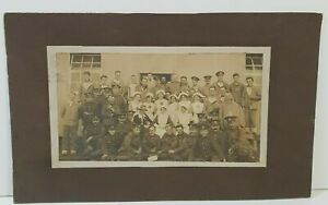 WW1 Field Hospital Soldiers nurses from collection Stanley Holden Front centre