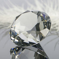 40mm Clear Glass Cut Crystal Diamond Paperweight Wedding Favor Gift Party Decor