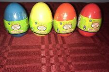 Dinosaur Train Mystery Hatchasaurs 4 Blind Eggs Figures Red Blue Yellow Orange